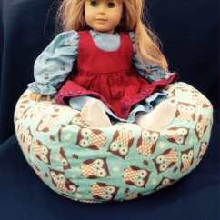 Girls Bean Bag Chairs Guitar Chair Stool For American Girl Doll