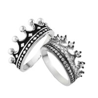 King & Queen ring crown ring setgold crown ring925k silver