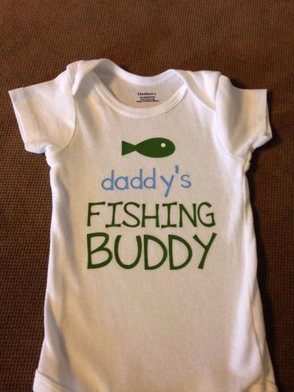 Daddy' Fishing Buddy Baby Onesie Toddler