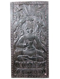 Indian Hand Carved Buddha Wall Panel Wall Decor by ...