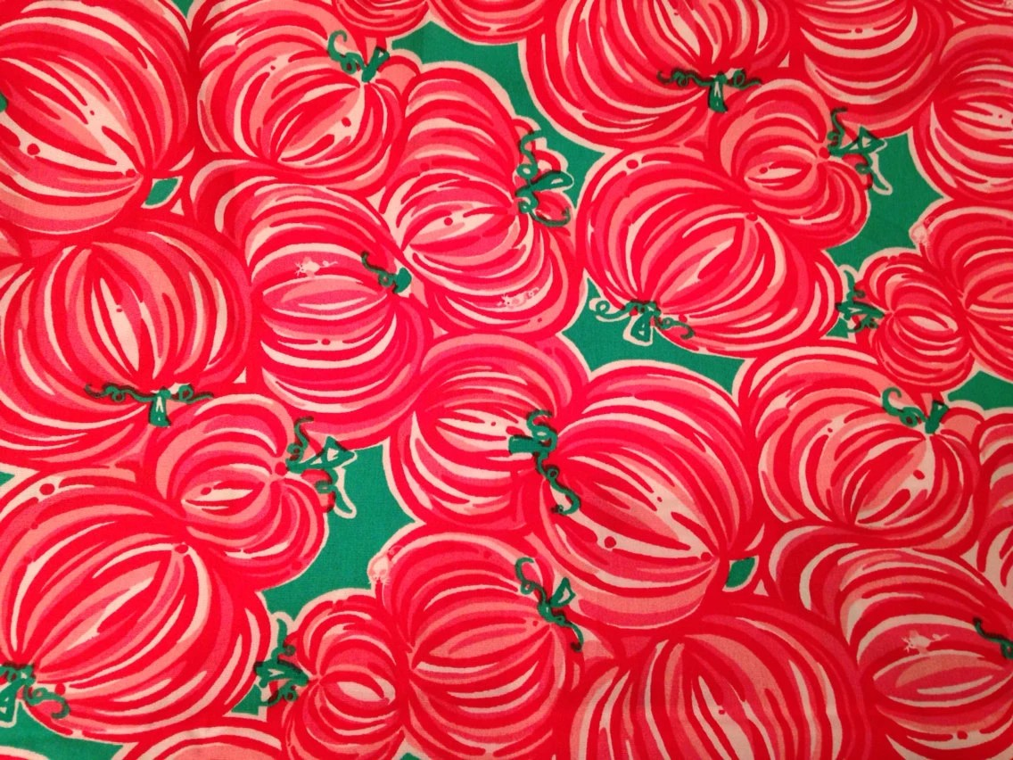 Lilly Pulitzer Fall Wallpaper 3 Patches Of Lilly Pulitzer Fabric In Punkin Chunkin Pumpkin