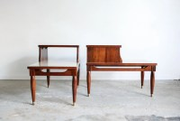mid century two tier tables step tables end tables gorgeous