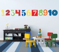 Number Wall Decals Numbers Wall Decoration ABC 123 Decals