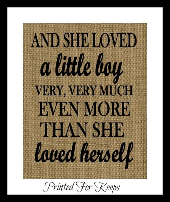 Download Son Print And she loved a little boy veryvery by ...