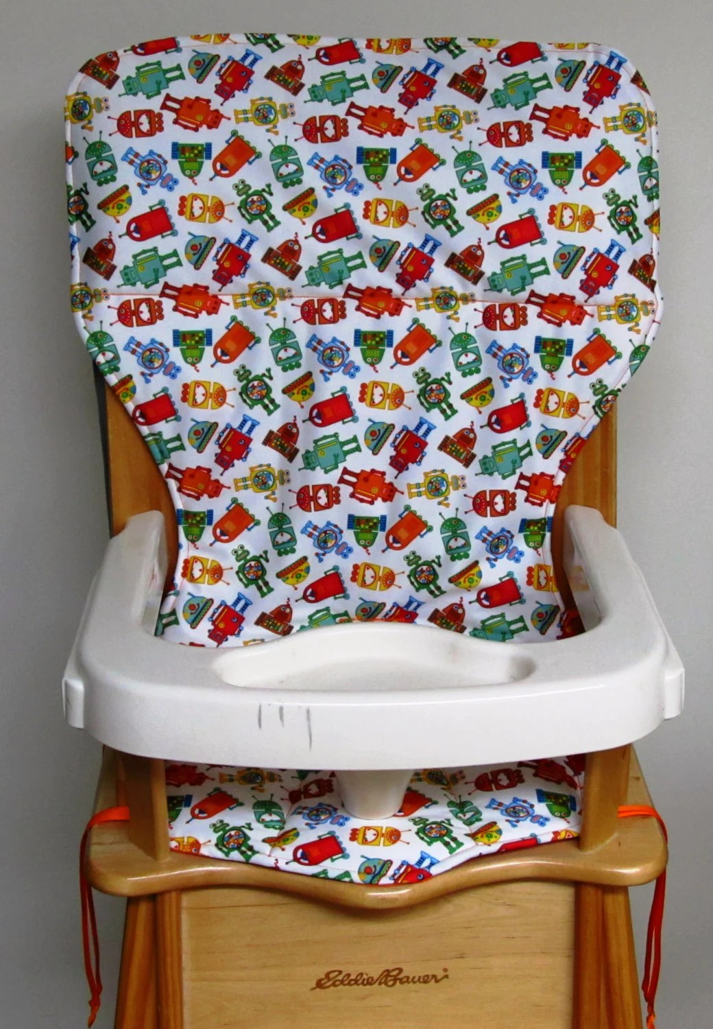 padded high chair home goods leather swivel eddie bauer pad replacement cover by