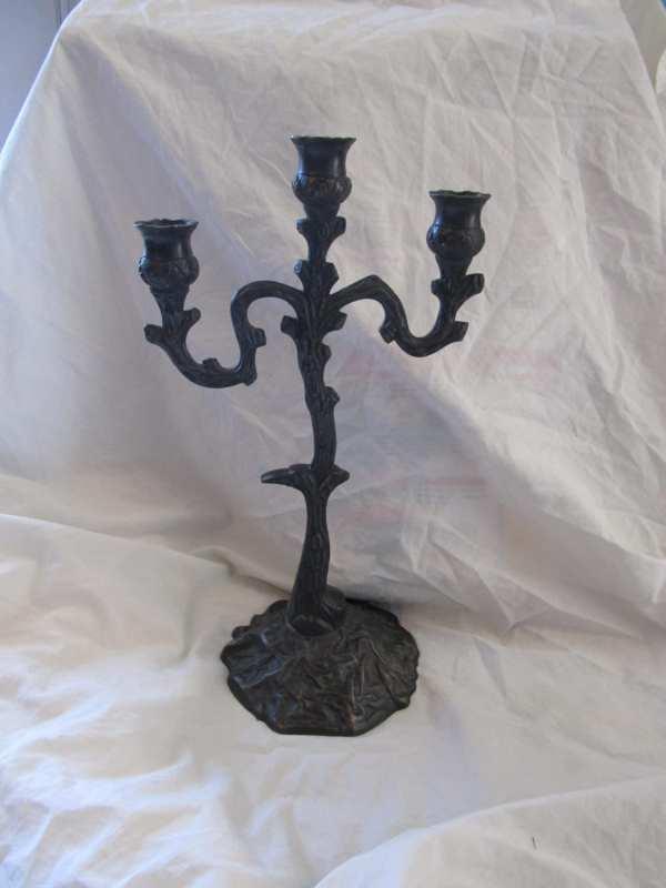 Iron Candelabra Candle Holder