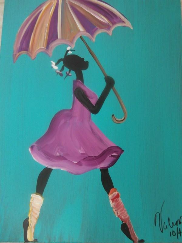 Original African American Black Art Painting Valenciaart