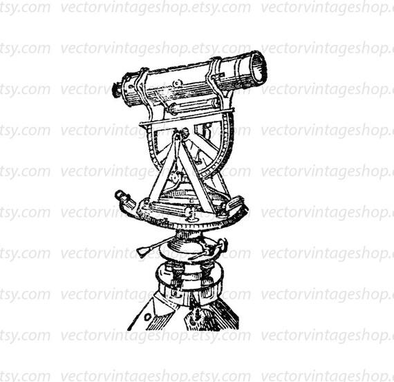 Telescope Vector Clipart Graphic Instant Download
