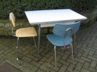 Vintage Kitchen Table with Formica Tabletop and Chrome ...