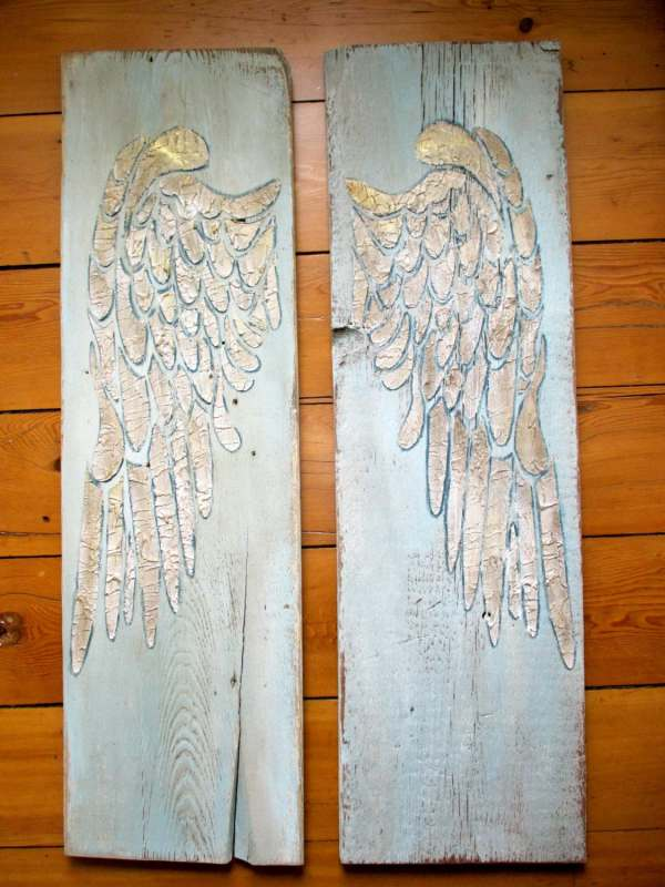 Angel Wing Wall Decor Wings Large Carved