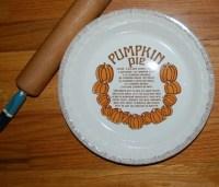 Vintage ROYAL CHINA JEANETTE Pumpkin Pie Recipe Pie Plate