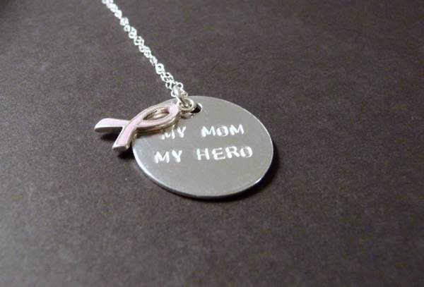Mom Hero Necklace Breast Cancer Jewelry Nkdna