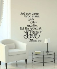 Faith Hope Love Wall Decal 1 Corinthians by AmberMooreDesigns