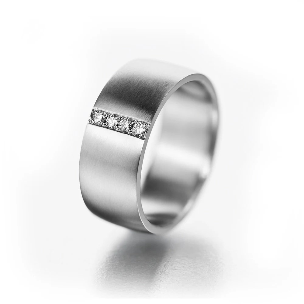 Wide Ring for Her Boho Ring for Her Her Titanium Wedding