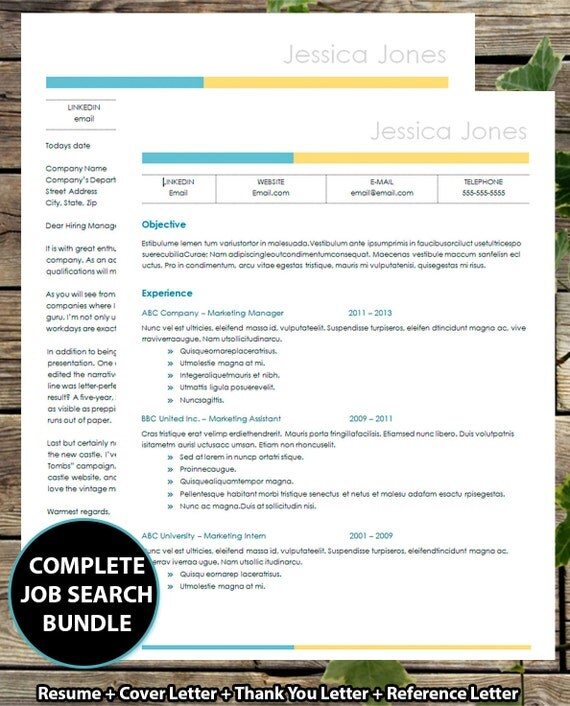 COMPLETE Job search PACKAGE Resume Cover Letter Thank you