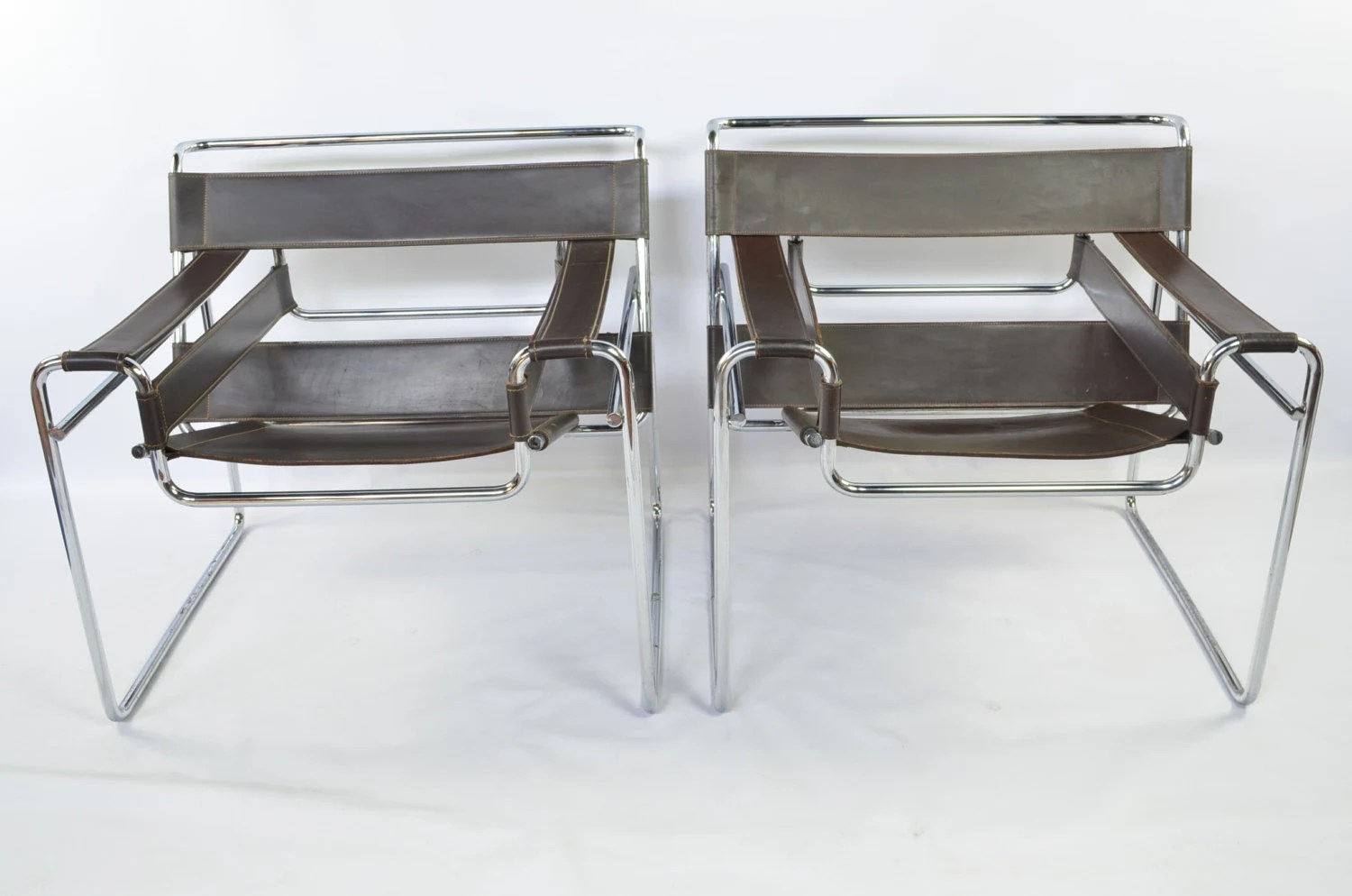 Wassily Chair Reproduction Early Reproduction Pair Of Wassily Chairs By Marcel Breuer