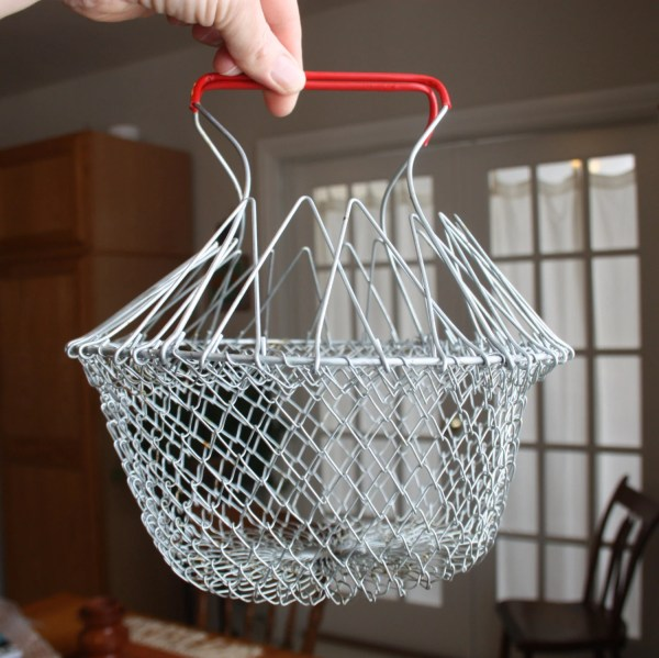Vintage Collapsible Wire Mesh Basket