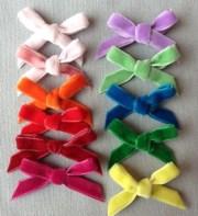 set of 10 velvet bows diy hair