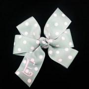polka dot hair bow monogrammed