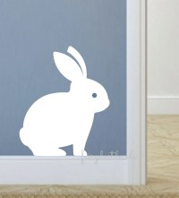 Bunny Rabbit decal nursery wall decals Easter bunny decals