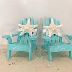 Mini Beach Chair Picture Frames Swivel Icon Wedding Cake Topper 2 Adirondack Chairs With