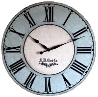36 inch North Haven Large Wall Clock antique style by
