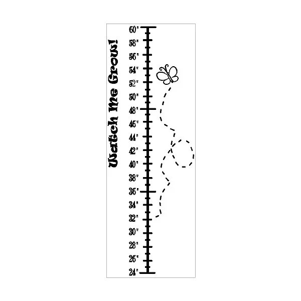 Peel and Stick Watch Me Grow Growth Chart Decal Removable Wall