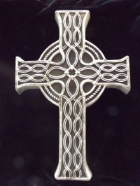 Large Celtic Cross Wall Hanging Gothic Black Pagan Plaque