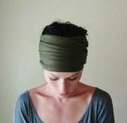 dark olive green head scarf army