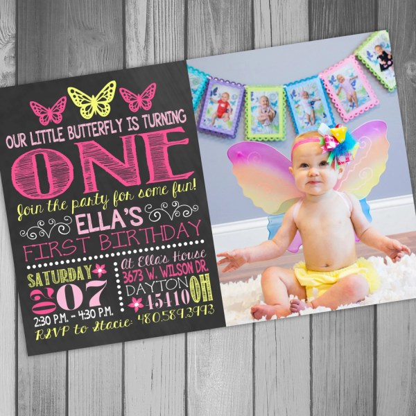 20 Butterfly 1st Birthday Invitation Pictures And Ideas On Meta