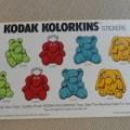 A619 1989 vintage kodak kolorkins stickers