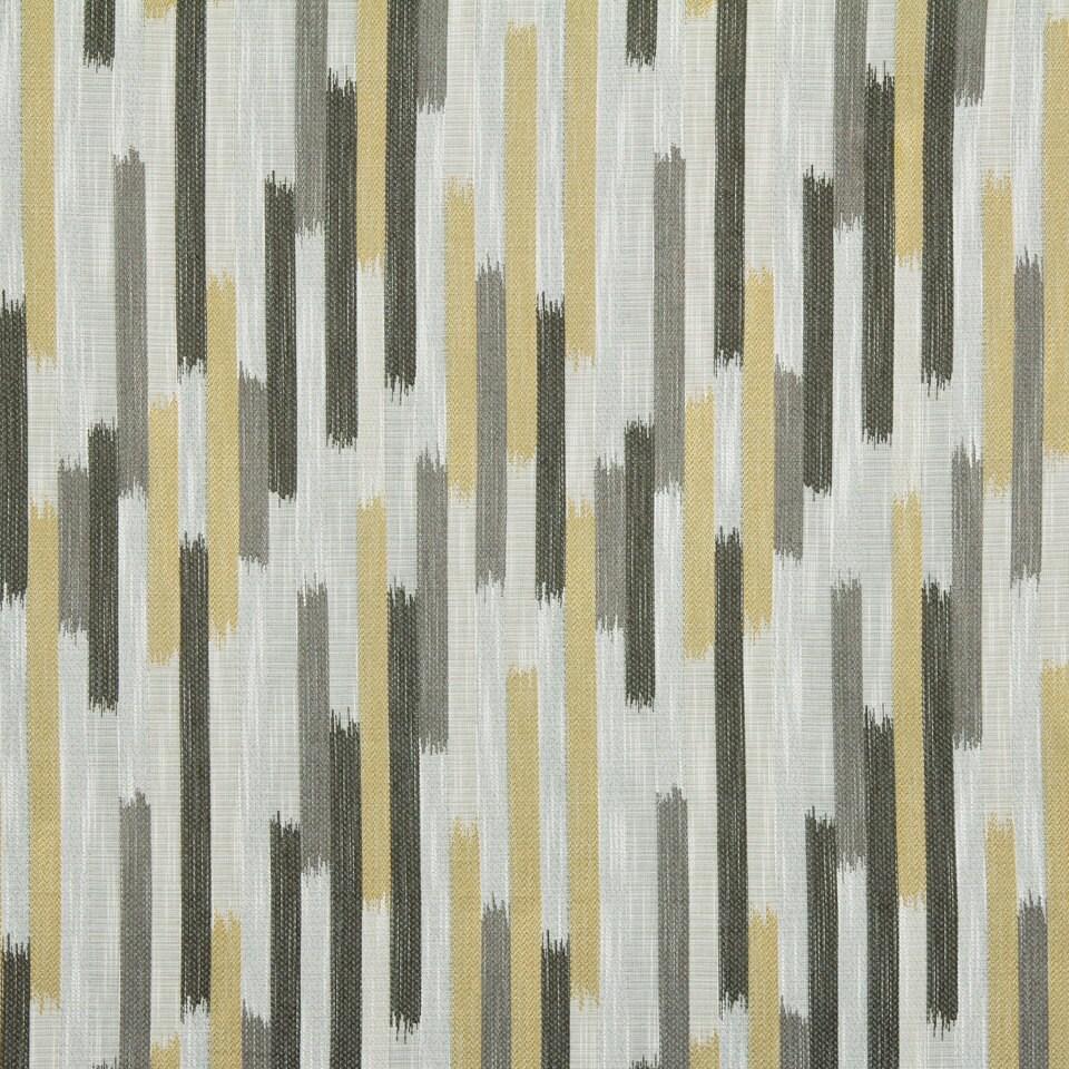 Grey Yellow Woven Ikat Upholstery Fabric Charcoal Grey Geometric