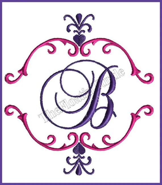 Monogram Embroidery Font Frame Embroidery Embelishment Machine