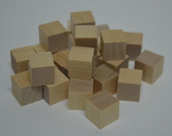 1 2 Solid Wood Blocks Set Of 25 Unfinished