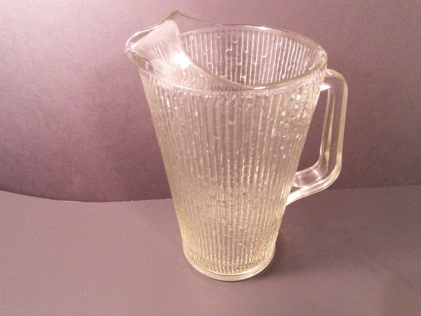 Vintage Jeannette Glass Finlandia Pattern Tall Clear