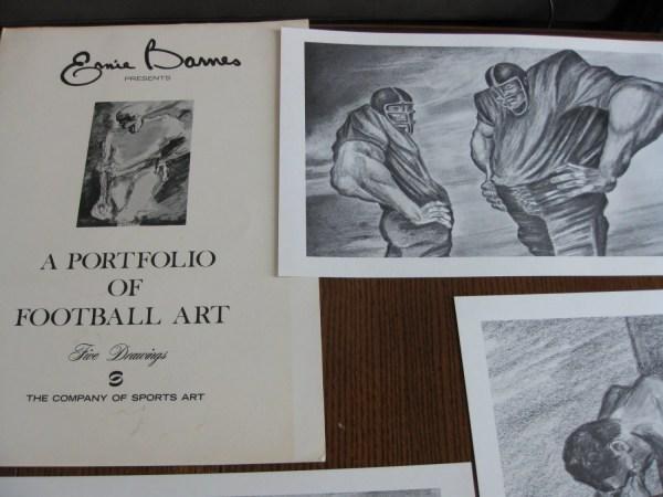 Complete Set Ernie Barnes' Portfolio Of Football Art