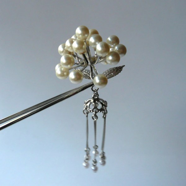 Vintage Kanzashi Hair Ornament Pearl Whatsforpudding