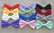 solid color hair bows colorful