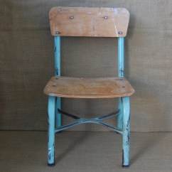 Childs Desk And Chair Vintage Swivel School Metal