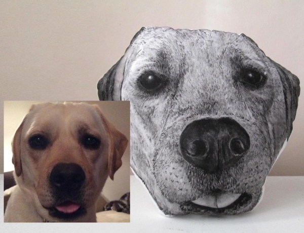 Personalized Dog Pillow Custom Realistic Portrait Dogs