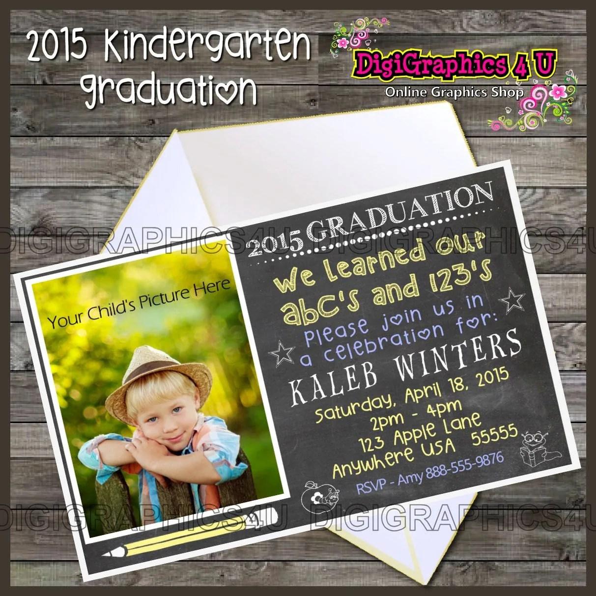 Printable Kindergarten Graduation Party By Digigraphics4u