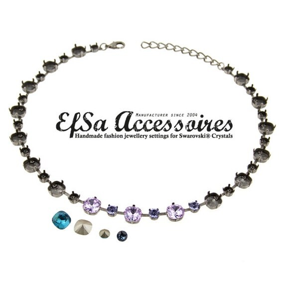 Empty cup chain necklace for SWAROVSKI® ELEMENTS no.1088
