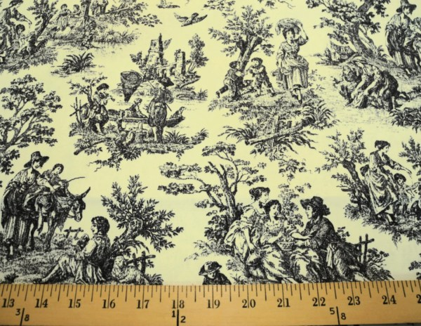Rustic Life Waverly Black And White Toile