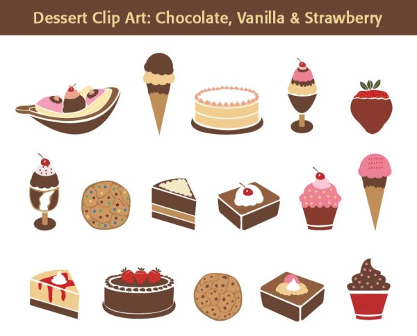 dessert clip art chocolate vanilla