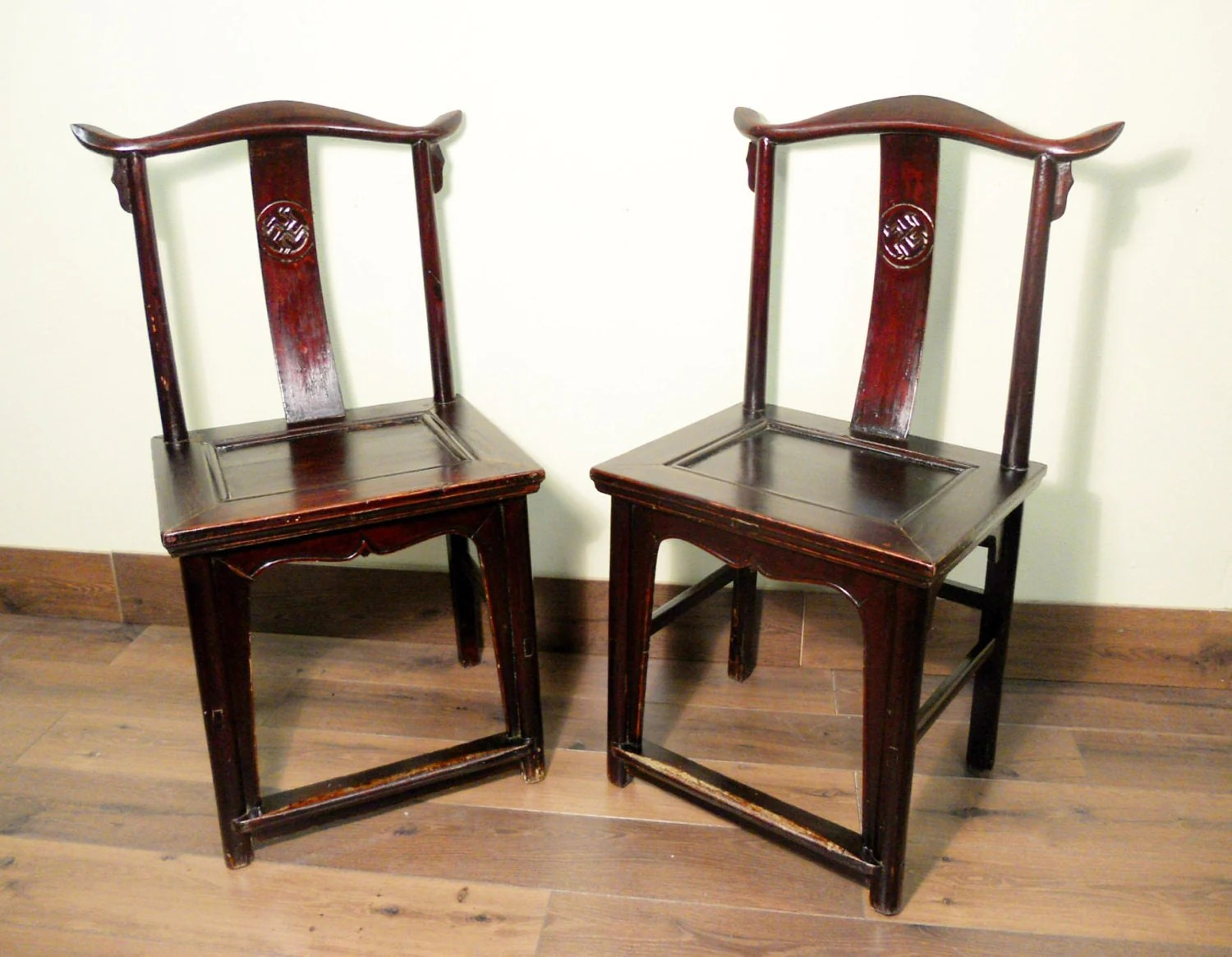 Chinese Chair Antique Chinese High Back Chairs Pair 5427 Circa