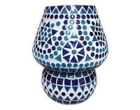 Indian mosaic table lamp mushroom shape multi by Interliving