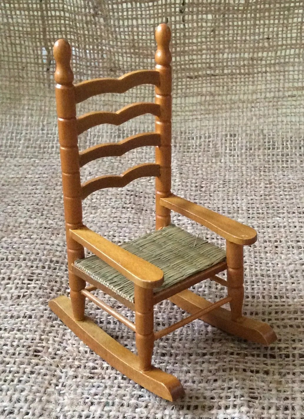 mini rocking chair office no wheels arms miniature wooden