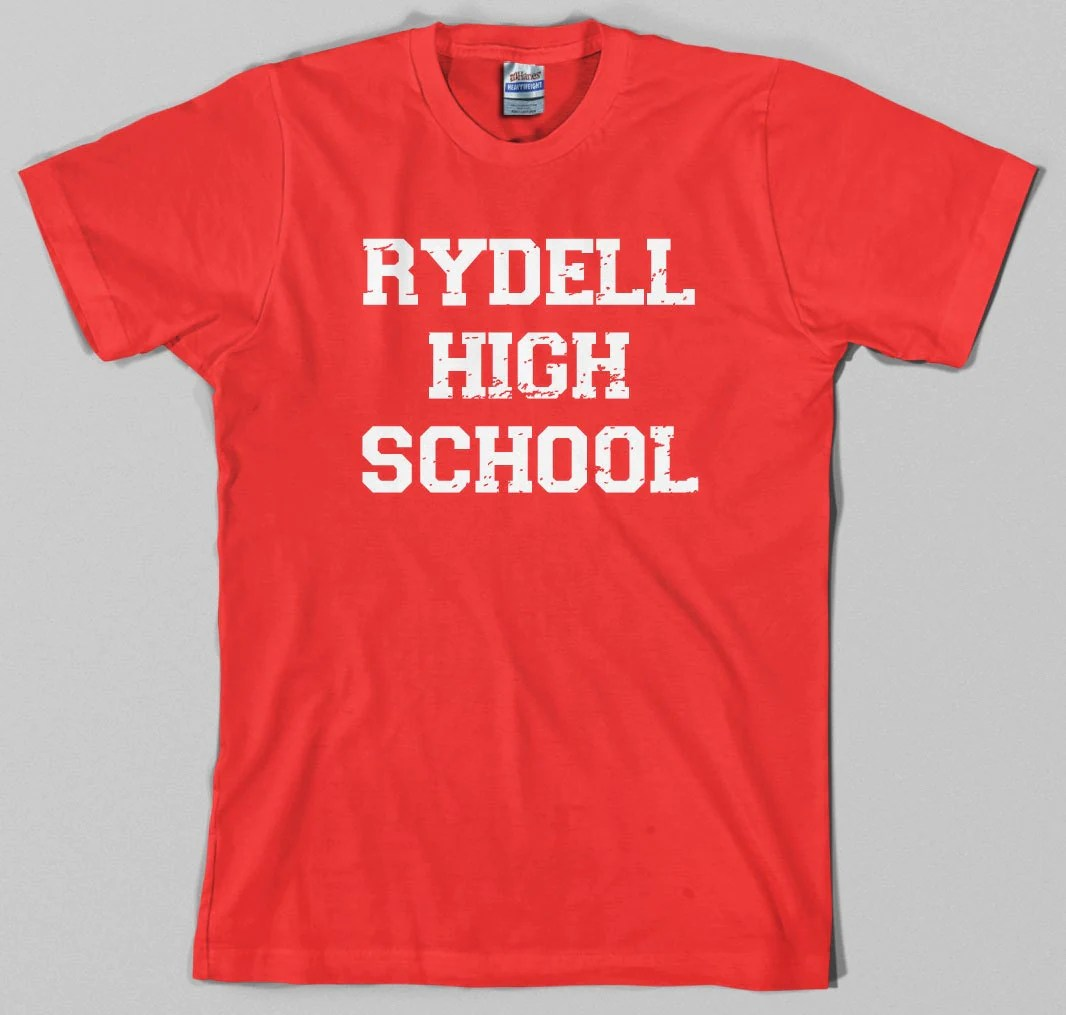 Rydell High School T Shirt grease musical movie 50s 70s