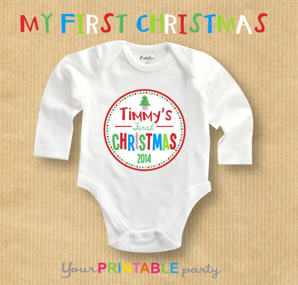 My First Christmas Tshirt Onesie transfer by