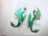 Dragon Earrings 9 colours available iridescent by MadMarchMoon